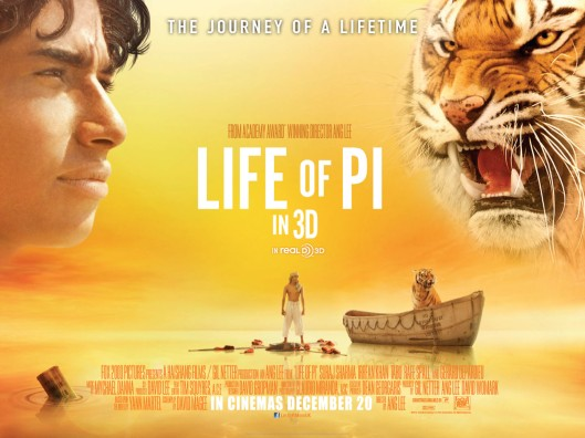 Life of Pi 3D poster